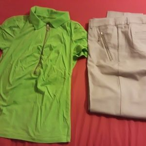 MICHAEL KORS BUNDLE OF DRESS PANTS & TOP